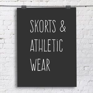 Skorts, Athletic shorts, athletic capris, & swim